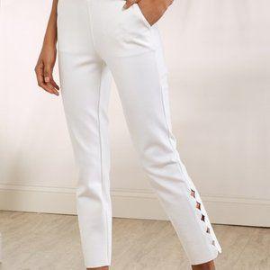 Soft Surroundings Sadie White Ankle Pants NWT L